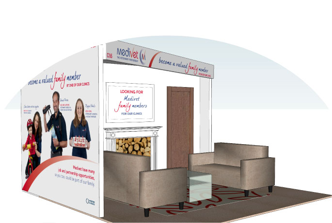 Exhibition stand for Medivet at the BSAVA 2009
